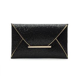 wholesale small evening bags NZ - Fashion Women Evening Bags Party Clutch Bags Purses Female PU Sequined Hasp Envelop Women Small Clutch Handbags Blingbling