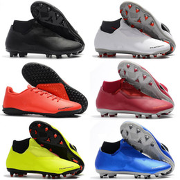 Net Games Australia - Hot Phantom VSN Vision Elite DF FG & AG Game Over Shadow Mens High Ankle Soccer Cleats Boots Football Shoes Size US 6-12