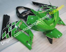 $enCountryForm.capitalKeyWord Australia - Green Black Injection Fairing For Kawasaki 2003 2004 Ninja 636 ZX6R ZX 6R 03 04 ZX-6R ABS Plastic Racing Fairings kit (Injection molding)