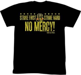 $enCountryForm.capitalKeyWord Australia - Karate Kid Strike First Strike Hard No Mercy Adult T Shirt Great Classic MovieMens 2018 fashion Brand T Shirt O-Neck 100%cotton