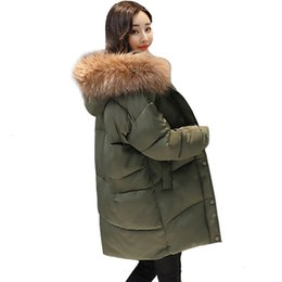 pad jacket Canada - 2019 New loose design Winter coat Women's cape Women's jacket Bont jacket Fat coat Lower parka Long Plus Size padded