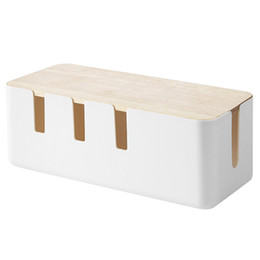 $enCountryForm.capitalKeyWord Australia - Hot Sale Wire Storage Box Plastic Multifunction Anti-Dust Fashion Household Supplies Case For Organizing Charger Socket Cables