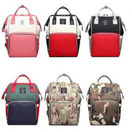 Fashion multiFunctional mummy bag online shopping - Patchwork Diaper Backpack Colors Multifunctional Large Capacity Mummy Nappy Nursing Maternity Backpacks Outdoor Bags OOA6160