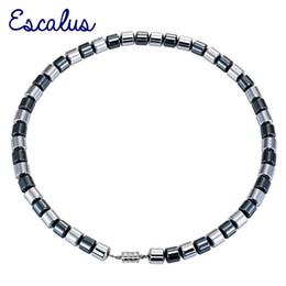 $enCountryForm.capitalKeyWord Australia - Escalus Energy Strong Barrel Shape Magnetic 49pcs Hematite Beads Chains Necklaces For Healing Women Classic Men Necklace Jewelry