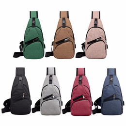 $enCountryForm.capitalKeyWord Australia - Men Casual Chest Pack Canvas Usb Charging Messenger Bags For Men Shoulder Handbag Fashion Travel Cross Body Bag Male Chestbags