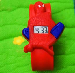 $enCountryForm.capitalKeyWord Australia - Colorful cute Kids Slap Watches LED Digital Children Cartoon Watch Silicone spiderman batman Hero Wristwatch boys girls Christmas Gift