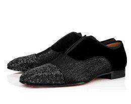Red Men Wedding Shoe Australia - Men Wedding Party Flat Shoes Alpha Male P Strass Flat Red Bottom Dress Oxford Greggo Orlato Flat Black Business Fashion Shoes Male