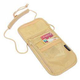 China Nylon Card Bag Neck Wallet Money Neck Purse Travel Storage Bag Document Card Passport Holder Pouch 14x19.5cm #95 supplier passport document wallet suppliers