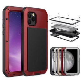 gorillas iphone UK - Luxury Shockproof Waterproof Powerful protection Aluminum Gorilla Glass Metal Cover Cell Phone Cases For iPhone 11 pro max XR XS 8 7 Plus