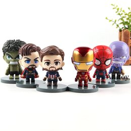 $enCountryForm.capitalKeyWord UK - Marvel Avengers 3 Infinity War Iron Man Thanos Spiderman Captain America Doctor Strange Hulk Action Figure Kids Toys 6pcs set