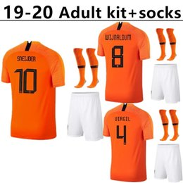 319e6030866 Adult kit+socks 2019 new Nederland soccer jersey 19 20 home orange  netherlands HOLLAND ROBBEN SNEIJDER V.Persie Dutch away football shirts