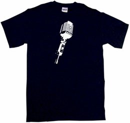 1dd7b7c8 Stage Microphone Silhouette Mens Tee Shirt Pick Size Color Small-6XL NEW  Fashion T Shirts 100% Cotton High Quality