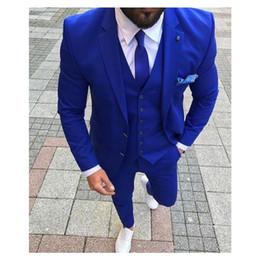 Best Tie For Blue Suit Australia - Blue Goorm Tuxedos For Wedding Groomsmen Suit Notched Lapel Men Suits For Prom Best Man Blaze (Jacket+Pants+Tie+Vest)