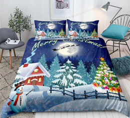 merry christmas bedding Canada - Merry Christmas Bedding Set Santa Claus Duvet cover set Christmas Decoration for Home Bedclothes 3-piece home textiles