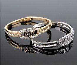$enCountryForm.capitalKeyWord Australia - Rose Gold White Fashion M Gold Bracelet Female Models Water Wave Bracelet Letter Logo Bracelet Low Price B026