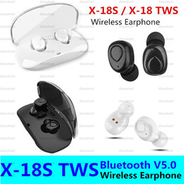 earphones bluetooth stereo Australia - X18S TWS Wireless Bluetooth Headset X18 Earphone Bluetooth Stereo Sound Earphones Sweatproof Wireless Bluetooth Build-in Mic Earbud