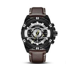 Sport Water Quartz UK - Cross-border new Meggle megir watch men's sports watch chronology leather men's quartz watch a 1704202306sport