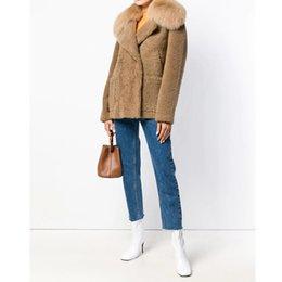 $enCountryForm.capitalKeyWord Australia - CP Wool Faux Fur Coat Women Fashion Faux Fox Fur Turn Down Collar Jacket Women Casual Pockets Coat Female Ladies CP160