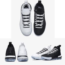 Scarpe da basket da uomo per uomo, scarpe da james per uomo 16 anni, guardare il re trono oreo leBRon 16 uguaglianza szie 40-46