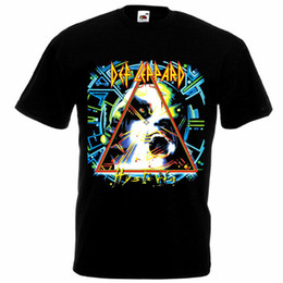 ff1eed16a Def Leppard Hysteria T-shirt black poster all sizes S...5XL Men Women  Unisex Fashion tshirt Free Shipping Funny Cool Top Tee White