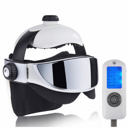 Heated Massage Australia - Massager Electric Heating Eyes Head Massage Helmet Automatic Air Pressure Vibration Therapy Music Muscle Stimulator Health Care