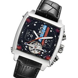 square automatic watches men Canada - KIMSDUN Sports Fashion Square Belt Automatic Mechanical Watch Waterproof Business Men Watch Automatic Luxury Hour