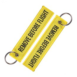 $enCountryForm.capitalKeyWord Australia - 5 Colors REMOVE BEFORE FLIGHT Keychain Letters Embroidery Keyrings Bag Lanyard Keychain Women Men Jewelry Baggage Tag Christmas Gift M215F