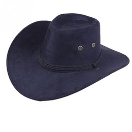 military shields NZ - Fashion women Sun Shield Cowboy Hat Summer Casual Artificial Leather Hat Traveling Western outdoor Cap