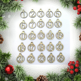 $enCountryForm.capitalKeyWord NZ - 25pcs 1-25 Wooden Christmas Advent Calendar Gift Tags Number Gift Tags Christmas Countdown decoration