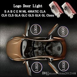 led courtesy lights white Canada - 2PCS Logo LED Door Courtesy Light Ghost Shadow Laser Projector for Mercedes-Benz