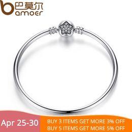 8d12cc5e5 Bamoer Authentic 100% 925 Sterling Silver Snake Chain Bracelet & Bangle Pave  Star Cubic Zirconia Cz Diy Jewelry J 190430
