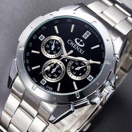 $enCountryForm.capitalKeyWord Australia - f CHENXI Brand Luxury Silver Men Casual Fashion Quality Stainless Steel Business Dress Watch for Men Women Lover's Clock