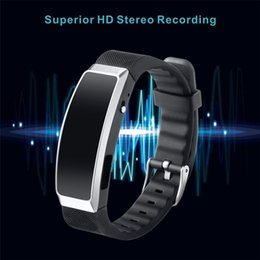 Ingrosso 8G Digital Voice Recorder Wristband Lettore musicale MP3 Registratore ad attivazione vocale Tecnologia indossabile per lezioni sportive di classe