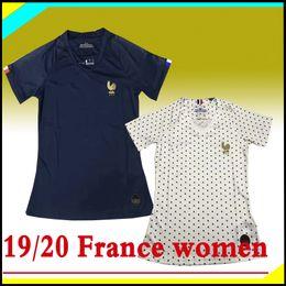 2019 dama MBAPPE GRIEZMANN mujeres fuera de casa Camiseta de fútbol 19 20 camiseta femenina del mundial POGBA KANTE niña 19 20 Camisetas de fútbol uniforme