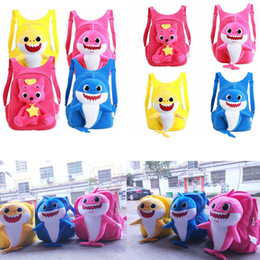 Wholesale clothing packs online shopping - Baby Shark Plush Backpack PinkFong School Bag pack Girl Boy Kids Children School Bags Backpacks Infantil Escolar Mochilas AAA1838
