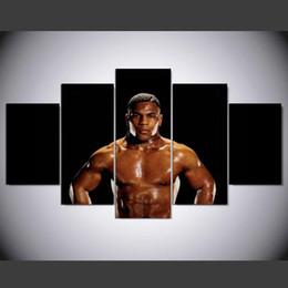 $enCountryForm.capitalKeyWord Australia - Mike Tyson Boxers,5 Pieces The Latest Most Popular High-definition Canvas Printed Home Decorative Art  Unframed   Framed