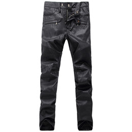 136983b18f Faux leather skinny jeans online shopping - Mens Casual Chaparajos Boys Faux  Leather Skinny Pencil Pants