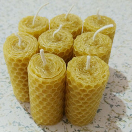 Rolls lights online shopping - 8 Pieces Rolled Beeswax Candle General Candle cm Handmade Pillar Lighting Candles Home Decor Candles Party Supplies