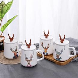 $enCountryForm.capitalKeyWord NZ - Creative Phnom Penh Ceramic Couple Cup European Marbled Mug Office Coffee Cup Couple Pair Cup Drinkware Cute MR &MRS Moose Wedding Favors