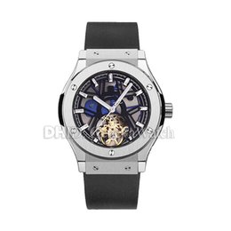 $enCountryForm.capitalKeyWord Australia - New Luxury Mens Watches Flywheel Mechanical Automatic Watch Man Import Rubber Strap 42mm 316L Stainless Steel Case Wristwatches man watches