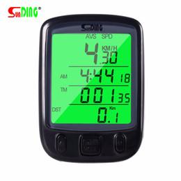 Waterproof Lcd Display Cycling Computer Bike Australia - SUNDING Speedometer for Bicycle Waterproof LCD Display Cycling Bike Bicycle Computer Odometer Speedometer with Green Backlight #136744