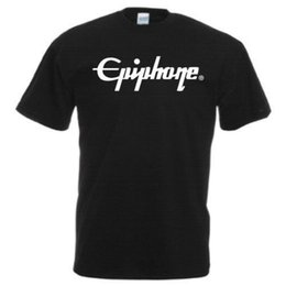 Chinese  EPIPHONE Guitars Logo T - Shirt Music Band Rock Bass Drums Pick ALL SIZES COLORS short sleeve tshirt Tops High Quality Cotton manufacturers
