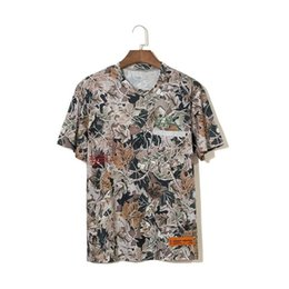 T Shirts Men Full Print Australia - 19ss new Heron Preston embroidered letters full printed men and women loose street fashion short-sleeved T-shirt Wholesale