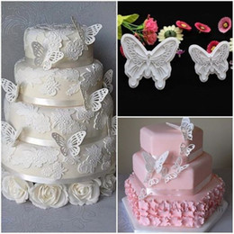 Wholesale Butterfly Shape Cake Mold Sizes Food Grade Plastic Fondant Decorating Cookie Plunger Cutters DIY Baking Molds
