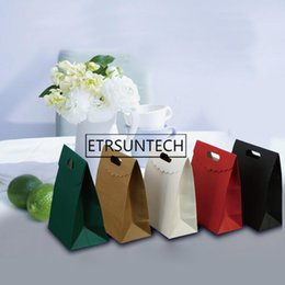 Pack Small Envelopes Australia - 100pcs Japanese-style Envelope pouch Colorful Kraft Paper Bag Small Gift Bag with Handles Flip-cut Jewelry Packing Bag