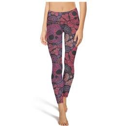 $enCountryForm.capitalKeyWord UK - Paisley Skulls seamless pattern High Waist Yoga Pants Womens Gym Yoga Pants Breathable Training Tights Long Leggings Black