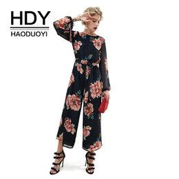 HDY Haoduoyi Flirty Print Transparente Sexy Backless Jumpsuit Streetwear Sping Long Sleeve Lady Jumpsuits Nueva llegada