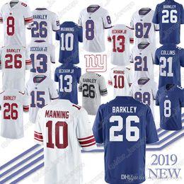 Footballs Free shipping online shopping - 26 Saquon Barkley Daniel Jones Eli Manning Odell Beckham Jr Landon Collins Jersey