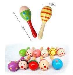 $enCountryForm.capitalKeyWord Australia - wholesale Colorful Sand Hammer Rattle Infant Mini Wooden Maracas Child madera Musical Instrument Baby Shaker Children Gift Toy