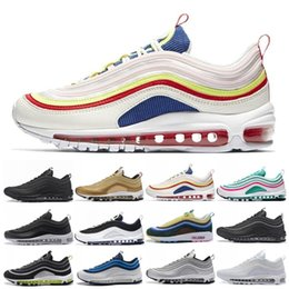 97 97s Pull Tab Men Running Shoes Black Metallic Gold South Beach PRM Yellow Triple White Designer Women trainers Sports Sneakers US 5.5-11